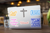 6 Pack Variety Christian Stickers