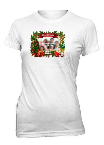 Christmas Family Holidays Custom Personalized T-Shirt for Juniors