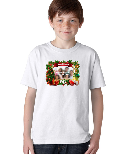 Christmas Family Holidays Custom Personalized T-Shirt for Kids