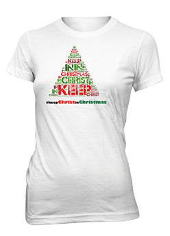 #Keep Christ in Christmas Jesus Hashtag Christian T-Shirt for Juniors
