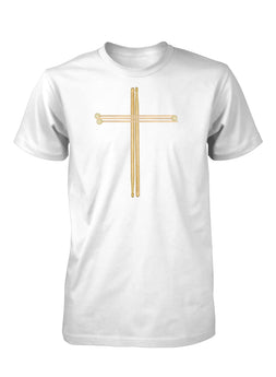 Drumsticks Worship Drums Music Easter Christian T-Shirt for Men