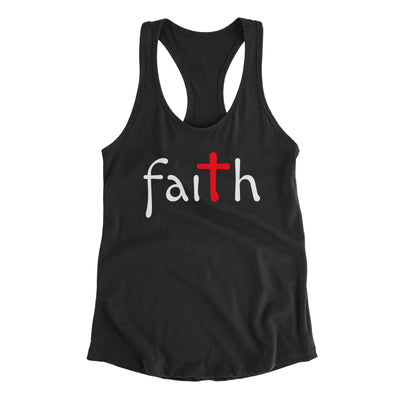 Faith Black Tank Top for Women | Christian Workout Tanks | Aprojes