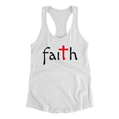 Faith White Tank Top for Women | Christian Workout Tanks | Aprojes
