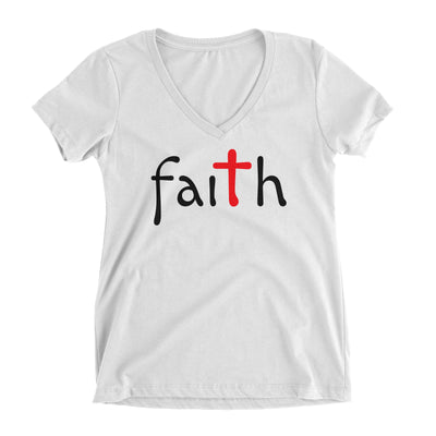 Faith Cross Christian V-Neck T-Shirt for Juniors