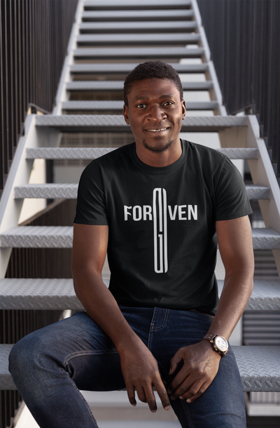 Forgiven Cross Christian T-Shirt for Men - Christian Tee