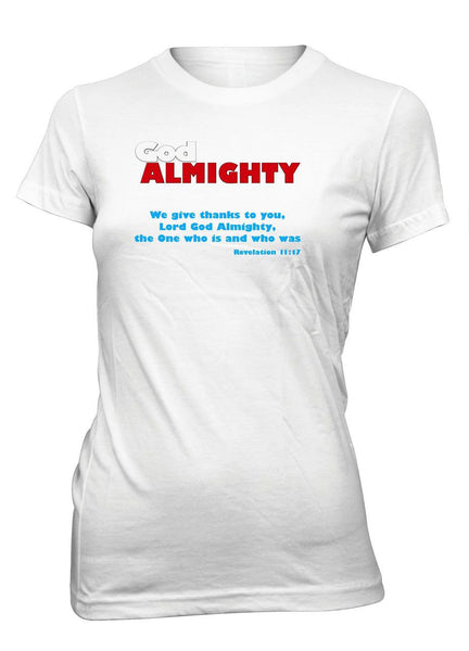 God Almighty Poster Movie Revelation Christian T-Shirt for Juniors
