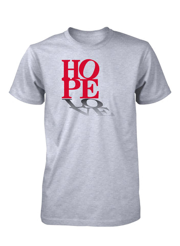 Hope Love Peace Positive Faith T-Shirt for Men
