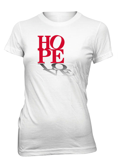 Hope Love Peace Positive Faith T-Shirt for Juniors