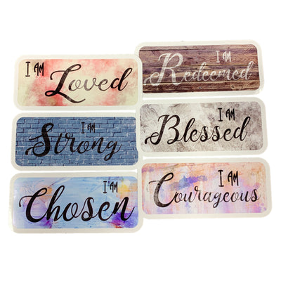 I Am Christian Stickers 6 Pack | Christian Stickers | Aprojes