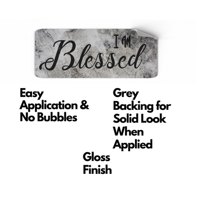I Am Blessed Christian Stickers 6 Pack | Christian Stickers | Aprojes