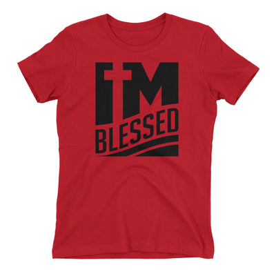 I'm Blessed Red Short Sleeve Crewneck T-Shirt for Juniors