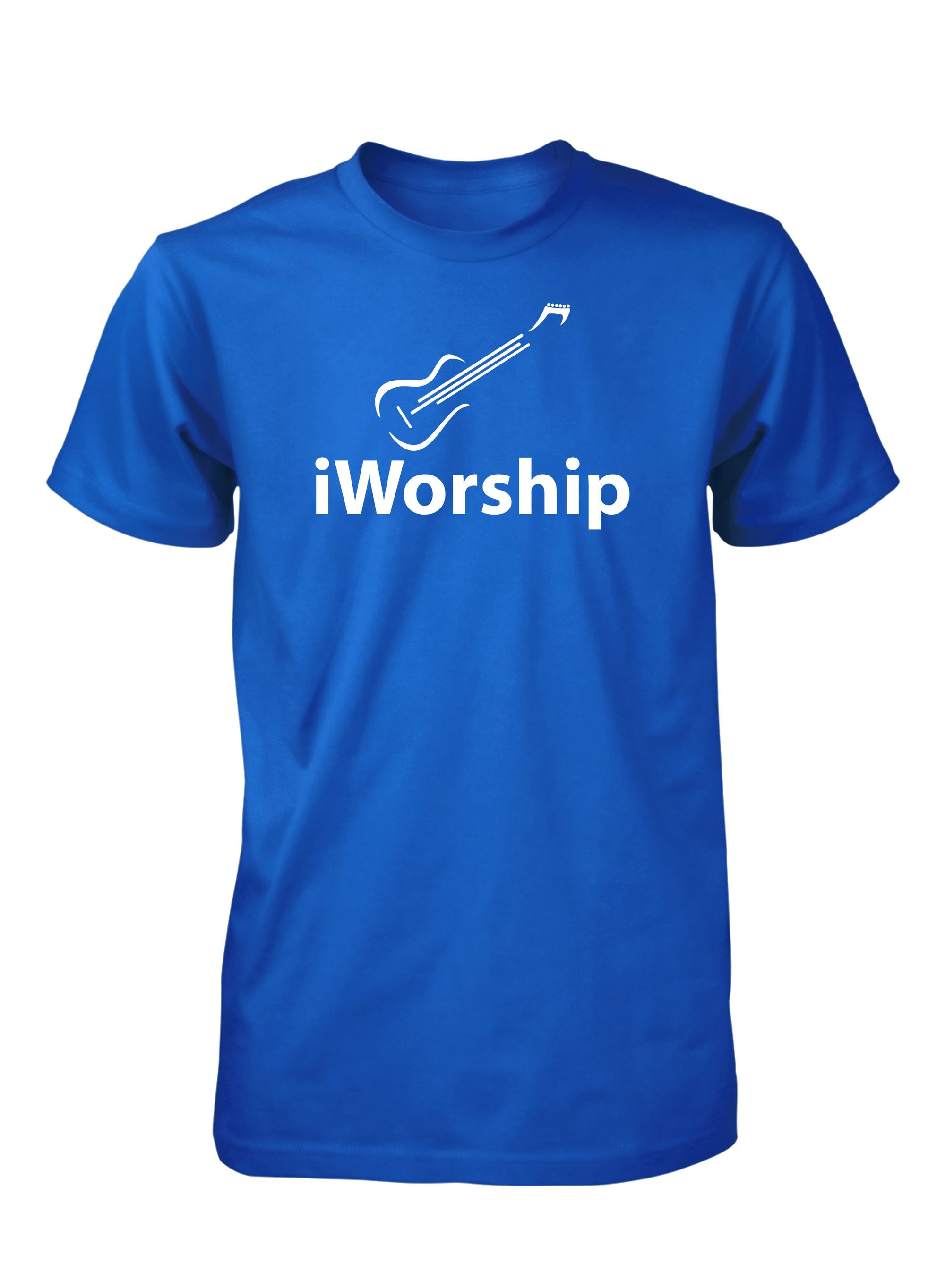 iWorship Praise God Guitar Music Christian Tshirt for Men