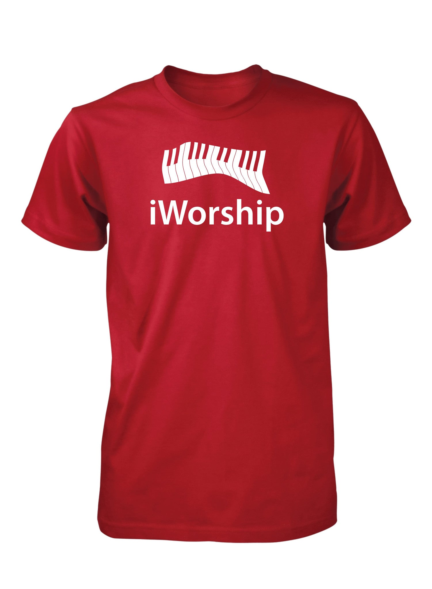 iWorship Praise God Keyboard Piano Keys Music Christian Tshirt for Men