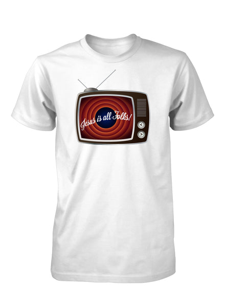 Jesus is All Folks Vintage Retro TV Cartoons Christian T-shirt for Men