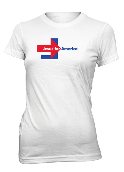 Jesus For America Campaign Christian T-Shirt for Juniors