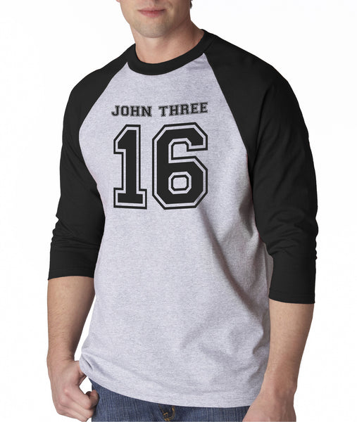 John 3 16 Bible Verse God Jesus Love Christian Baseball Shirt for Men