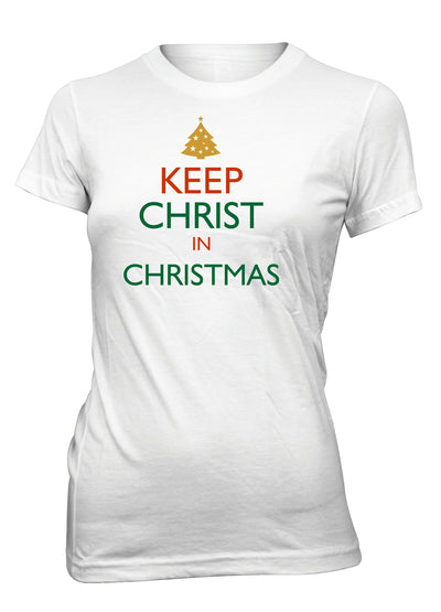 Keep Christ In Christmas Jesus Christian T-shirt for Juniors