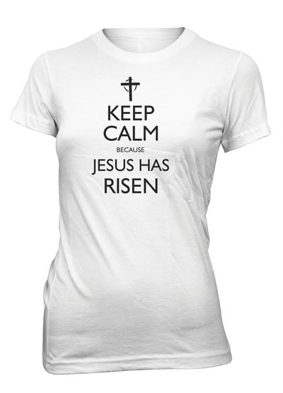 Keep Calm Jesus Has Risen Easter Christian T-shirt for Juniors