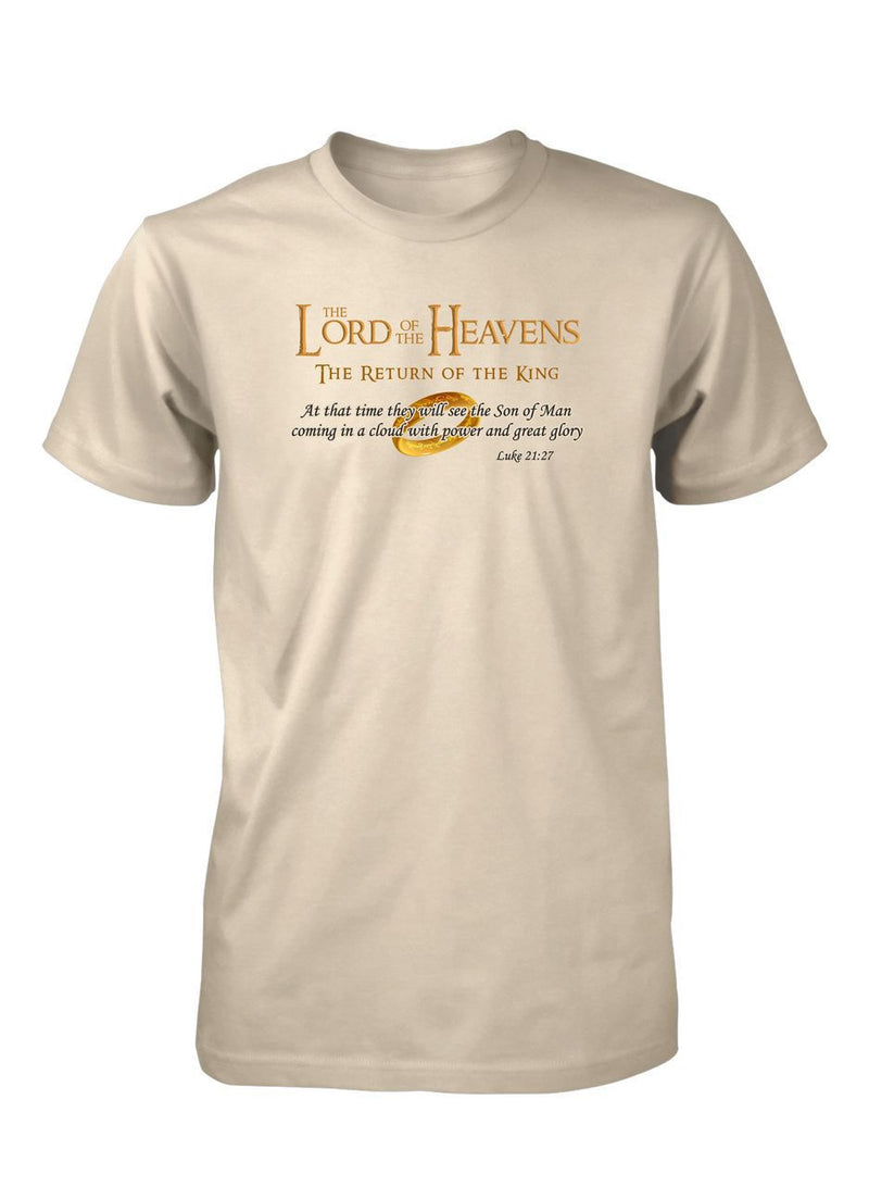 Lord of the Heavens King Jesus Ring Christian  Movies Entertainment Tee T-Shirt for Men