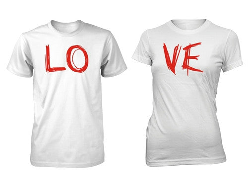 Men's Junior's Love Valentine's Day Couple T-Shirt