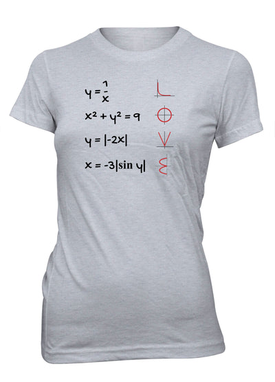 Love Equation Math Curve Formula School College T-Shirt for Juniors