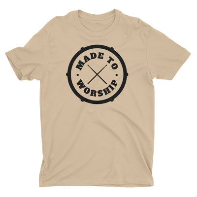 Made To Worship Drums Drummer Music Worshiper Band Christian T-Shirt for Men