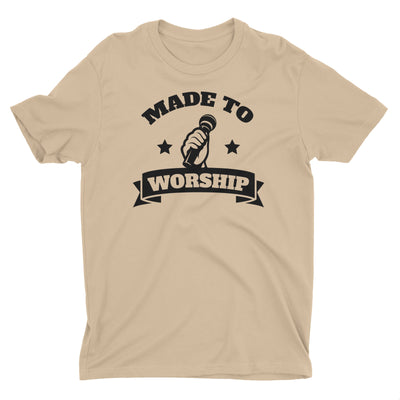 Made To Worship Lead Singer Vocals Music Worshiper Band Christian T-Shirt for Men