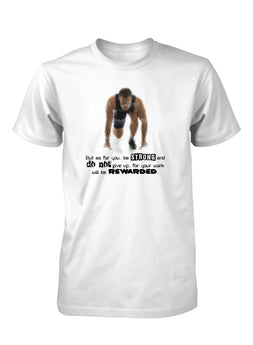 Be Strong Do Not Give Up Marathon Race T-Shirt for Men