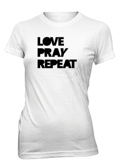 Love Pray Repeat Peace Jesus Christian T-shirt for Juniors
