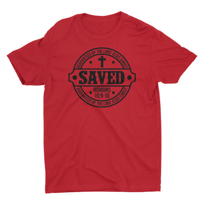 Saved Salvation Scripture Christian T-Shirt for Men