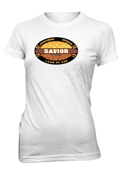 Savior Jesus Survivor Jesus Messiah Christian Tshirt for Juniors