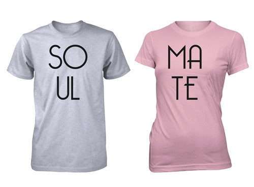 Men S Junior S Soulmate Couple T Shirt Love Valentine S Day Matching