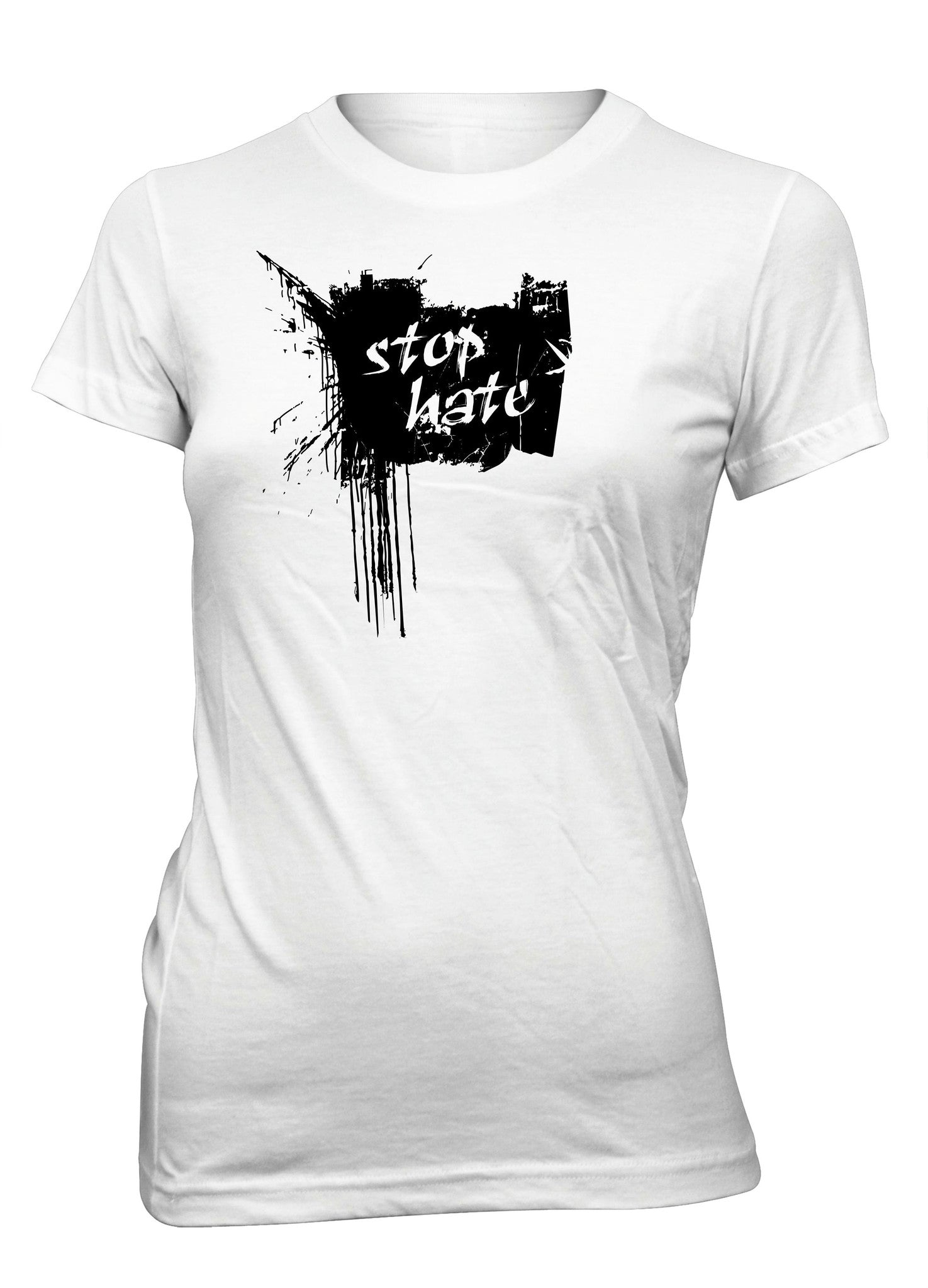 Stop Hate No Hate Peace Love T-Shirt for Juniors