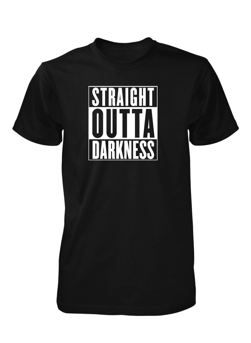 Straight Outta Darkness Light God Christian T-Shirt for Men