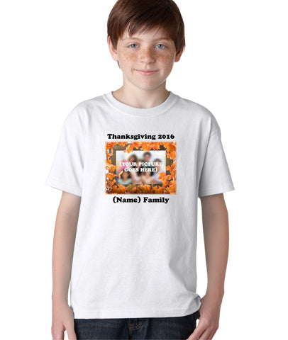 Thanksgiving Family Holidays Custom Personalized T-Shirt for Kids