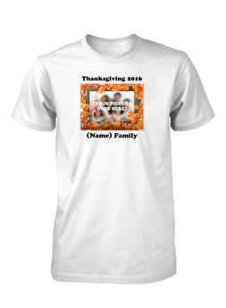 Thanksgiving Family Holidays Custom Personalized T-Shirt for Men