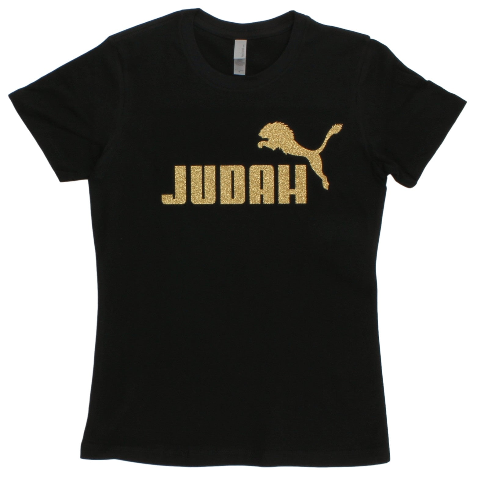 Lion of Judah Israel Christian Glitter Gold Special Tee T-shirt for Juniors