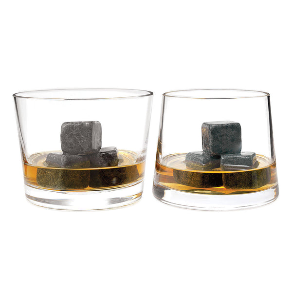 Old Jack Beam Cold Stones - Luxury Soapstone for Chilling Scotch Rocks and Whiskey Stones - 9 Piece Set