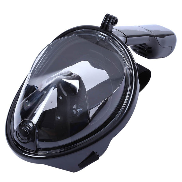 Full Face Snorkeling Mask 180 Degree Wide View Scuba Underwater Diving Mask for GoPro Hero 5, Hero 4 /3/2/1 XiaoYi Action Camera