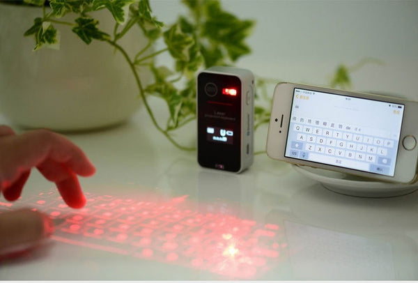 New Laser Projection Keyboard Wireless Bluetooth LED Screen Keyboard with Mouse Function Lovely Gift