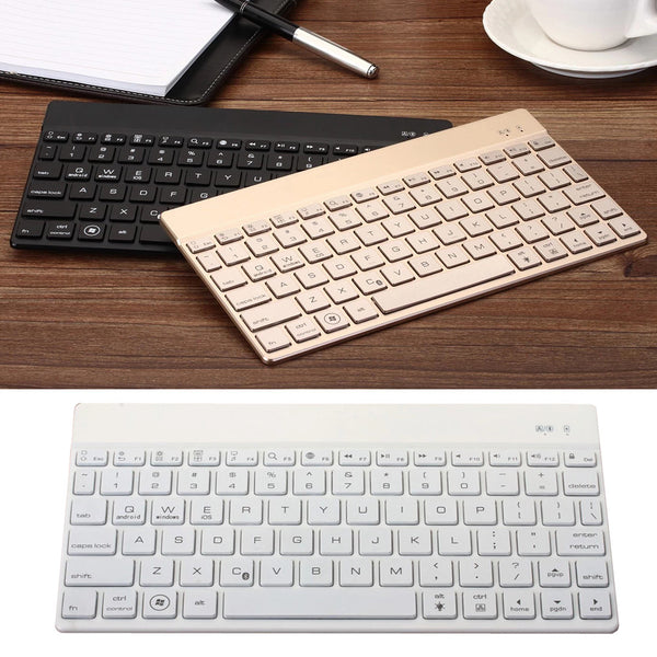 Ultra-Thin High Quality Universal 7 Color LED Backlight Wireless Bluetooth 3.0 Keyboard for Tablet Suit iOS Android Windows Mac