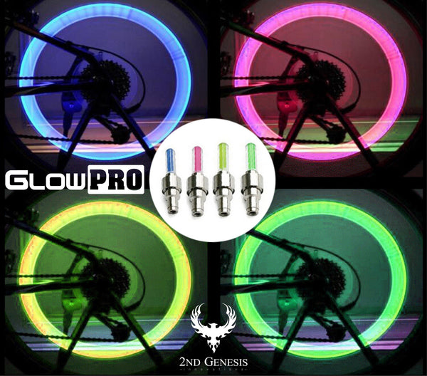 GlowPRO Valve Stem Cap LED Bike Tire Light