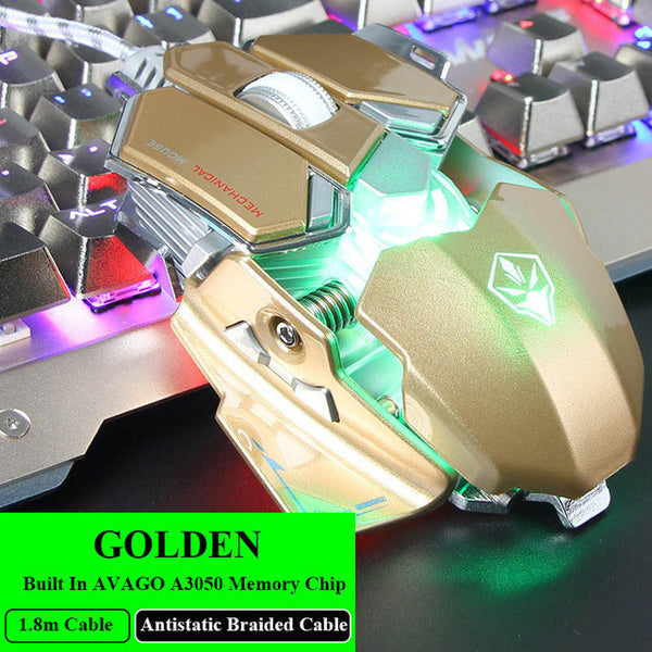 LUOM G10 RGB Gaming Mouse USB Wired 9 Buttons 4 LED Colors Backlight 4000 Adjustable DPI Optical Gamer mouse Computer desktop Mice