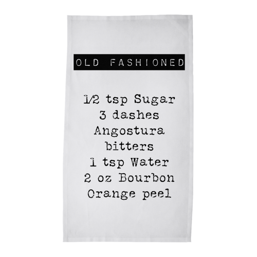 Old Fashioned Recipe Tea/Bar Towel