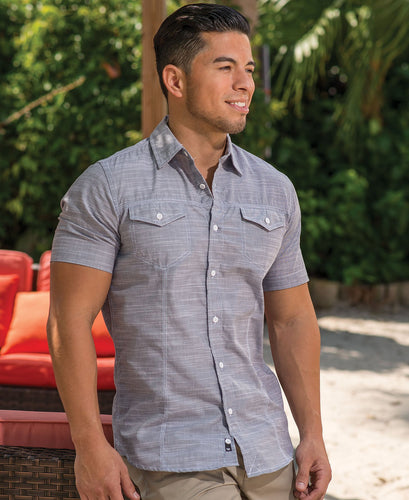 Burnside Adult Texture Woven Shirt BN9247