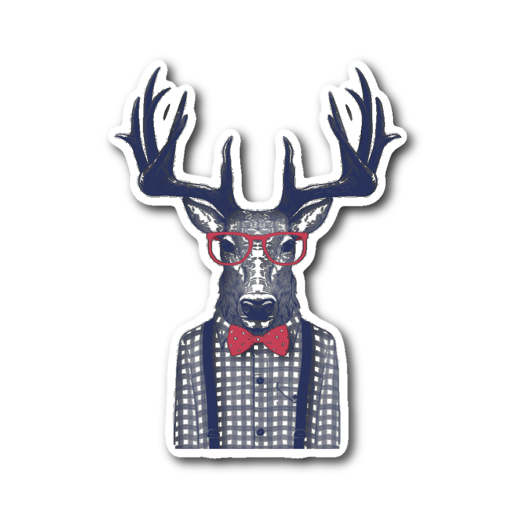 Farmer Deer Sticker