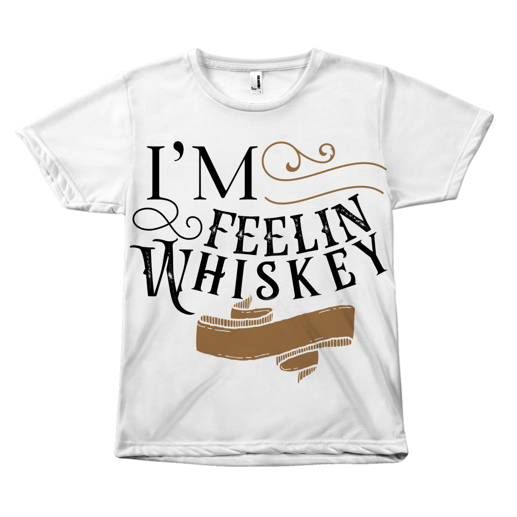 Feelin Whiskey All Over Print T-Shirt