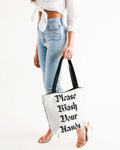 Public Warning Canvas Zip Tote