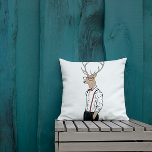 Hipster Deer Premium Pillow