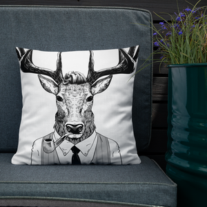 Wall Street Deer Premium Pillow